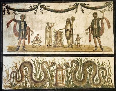 Sacrificial Photograph - Pig Sacrifice, Roman Fresco by Sheila Terry