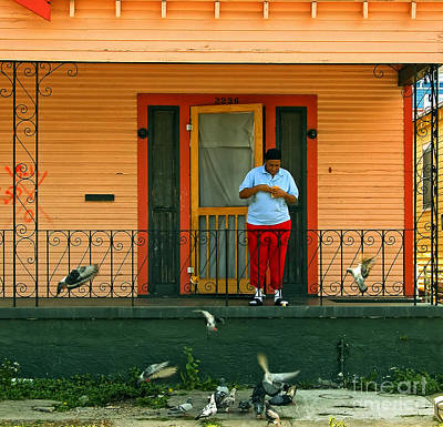 Screen Doors Photograph - Pigeon Lady Of New Orleans by Kathleen K Parker