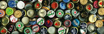 Pile Of Beer Bottle Caps . 3 To 1 Proportion Print by Wingsdomain Art and Photography