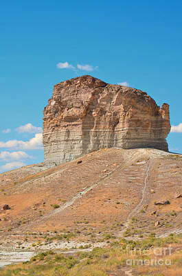 Pilot Butte Rock Formation II Print by Donna Greene