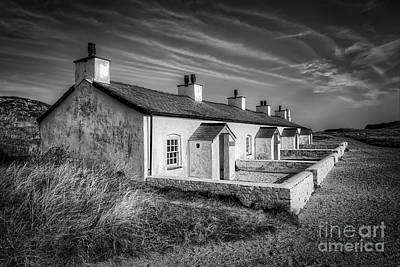 Pilot Cottages Print by Adrian Evans