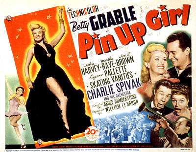 Pin-up Girl, Betty Grable, John Harvey Print by Everett