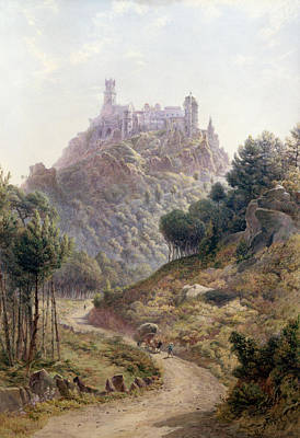 The King Painting - Pina Cintra Summer Home Of The King Of Portugal by George Leonard Lewis