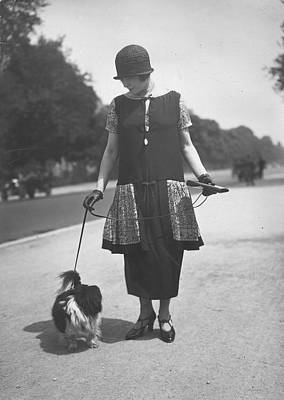 Cloche Hat Photograph - Pinafore by Seeberger Freres