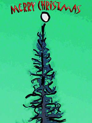 Pine Tree Christmas Print by Rob Tullis