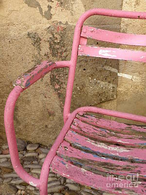 Pink Chair Print by Lainie Wrightson