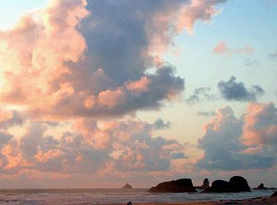 Pink Clouds Over Tillamook Print by Will Borden