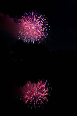 Pink Fireworks Print by James BO  Insogna