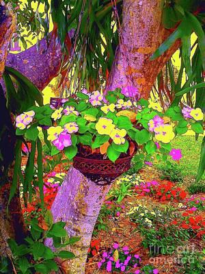 Pop Art Digital Art - Pink Flowers J3 by Nina Kaye