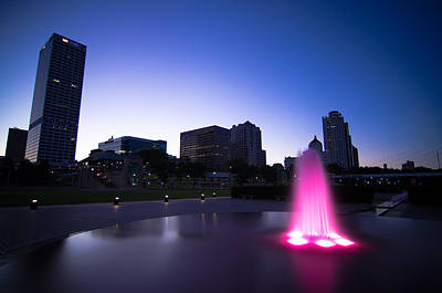 Pink Fountain Print by Jonah  Anderson