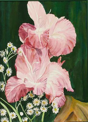 Pink Glad Print by Judy Loper