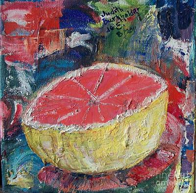 Pink Grapefruit - Sold Original by Judith Espinoza