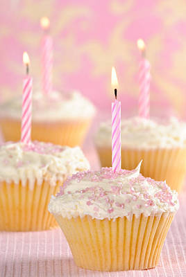 Special Occasion Photograph - Pink Party Cupcakes by Amanda And Christopher Elwell