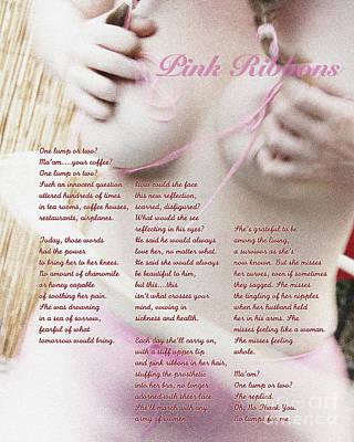 Pink Ribbons Print by Robert R Sanders