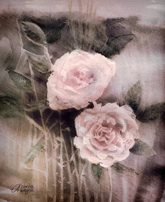 Pink Roses Print by Arline Wagner