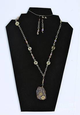 Czeck Beads Jewelry - Pink Seafoam by Jan Bennicoff