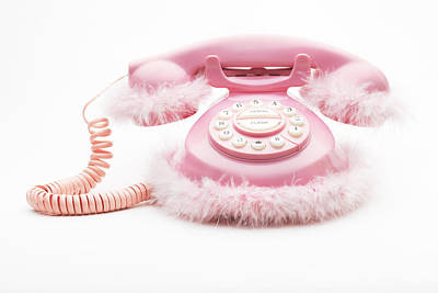 Y120831 Photograph - Pinkie Phone by Olive