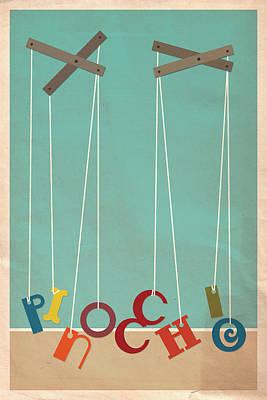 Cricket Digital Art - Pinocchio by Megan Romo