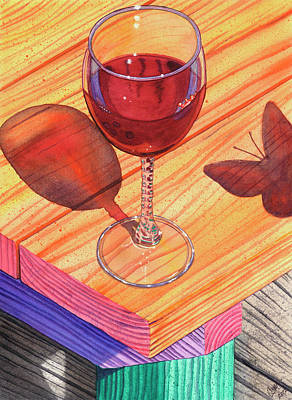 Wineglass Painting - Pinot Noir by Catherine G McElroy
