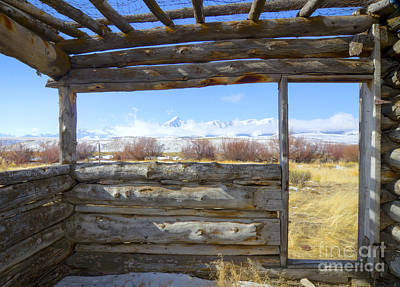 Cabin Window Photograph - Pioneer Cabin by Idaho Scenic Images Linda Lantzy