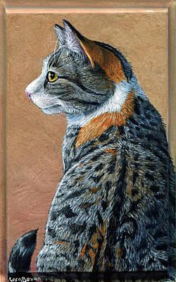 Cat Painting - Piper by Cara Bevan