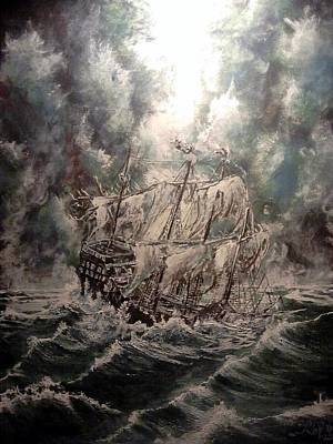 Pirate Ship Painting - Pirate Islands 2 by Robert Tarrant