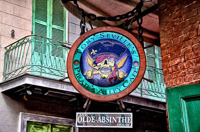 Absinthe Photograph - Pirates Alley Cafe by Bill Cannon
