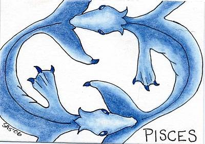 Pisces Fish Drawing - Pisces by Sherri Strikwerda