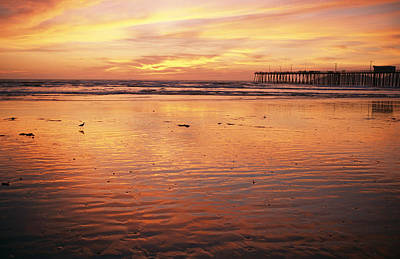 Etc. Photograph - Pismo Beach And Pier At Sunset by Michael S. Lewis