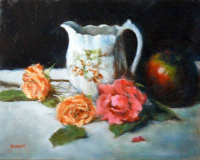 Pitcher With Apple Print by Jill Brabant