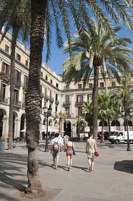 Placa Reial Barcelona Spain Print by Matthias Hauser