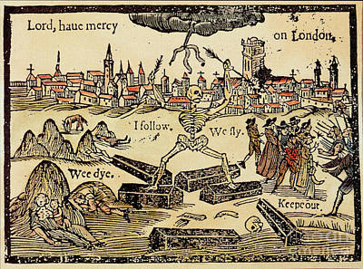 Seventeenth Century Photograph - Plague In London 1625 by Science Source