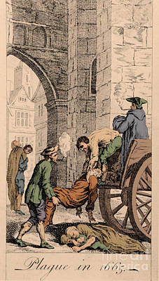 Plague Of 1665 In London Print by Science Source