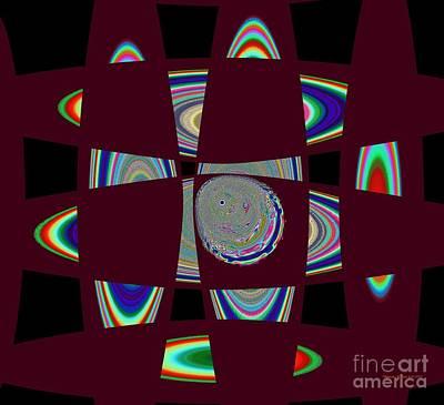 Planetary System Mixed Media - Planetary Ring Maze by Deborah Juodaitis