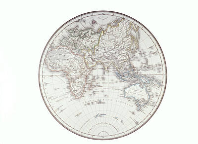 Planispheric Map Of The Eastern Hemisphere Print by Fototeca Storica Nazionale