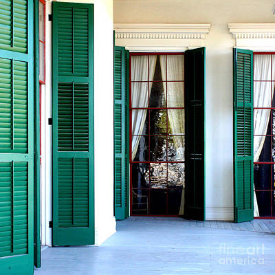 Mississippi Photograph - Plantation Porch by Carol Groenen