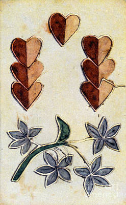 Applique Photograph - Playing Card, C1700 by Granger