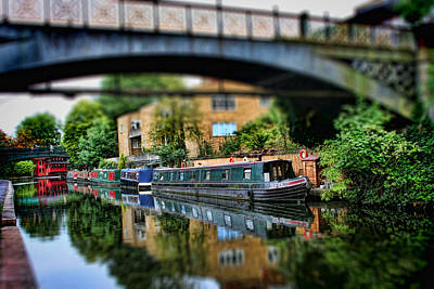 Miniature Effect Photograph - Playing With Canal Boats by Heather Applegate