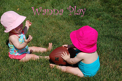 Twins Photograph - Playtime by Aimee L Maher Photography and Art Visit ALMGallerydotcom