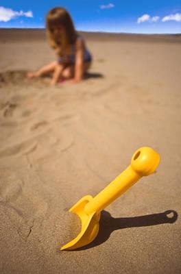 Playtime At The Beach Print by Meirion Matthias