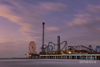 Pleasure Pier Amusement Park Galveston Texas Print by Keith Kapple