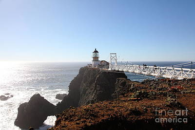 Bonita Point Photograph - Point Bonita Lighthouse In The Marin Headlands - 5d19700 by Wingsdomain Art and Photography