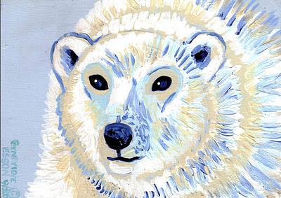 Polar Bear Print by Genevieve Esson