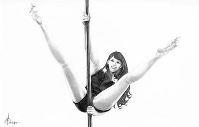 Pole Dancer Print by Murphy Elliott