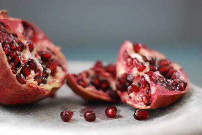 Red Fruit Photograph - Pomegranates by Shawna Lemay