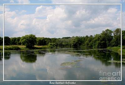 Pond At Beaver Island State Park In New York Print by Rose Santuci-Sofranko