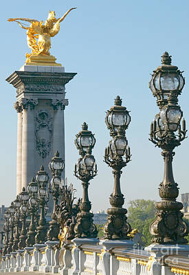 Streetlight Photograph - Pont Alexander IIi Detail by Clarence Holmes