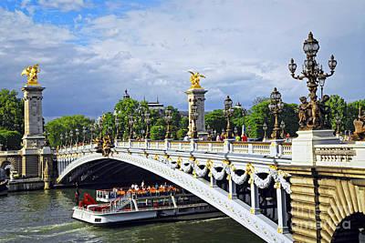 Pont Alexander IIi Print by Elena Elisseeva