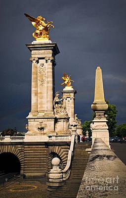 Third Photograph - Pont Alexander IIi In Paris Before Storm by Elena Elisseeva