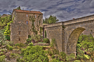 Pont De Minerve Print by Rod Jones